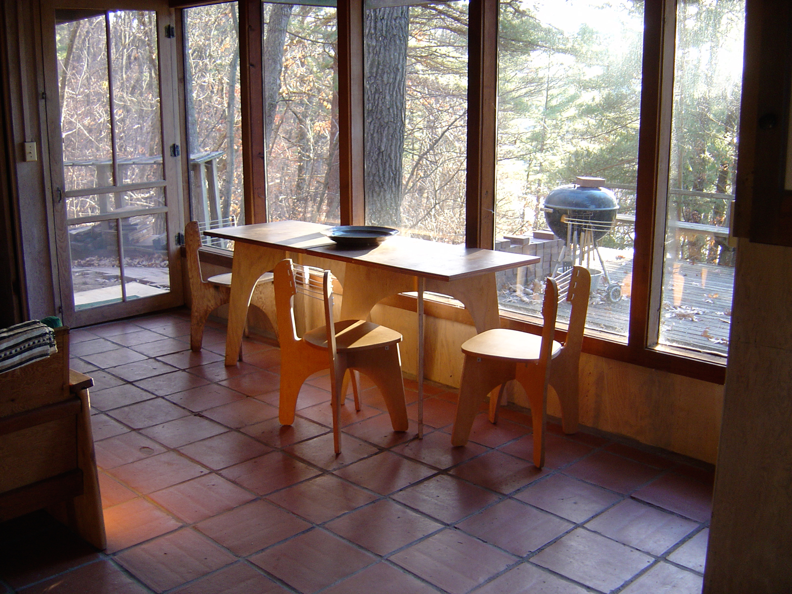 Dining room of house designed by Close Associates