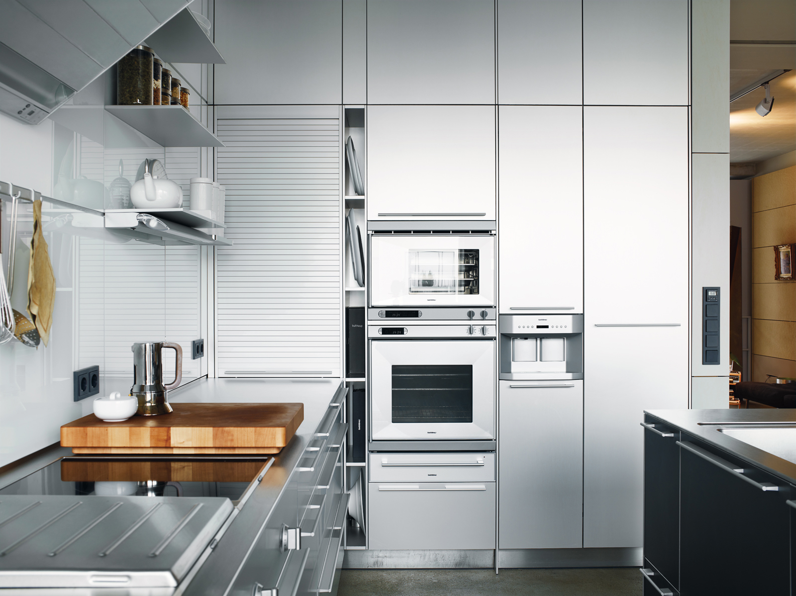 Stainless steel Bulthaup kitchen