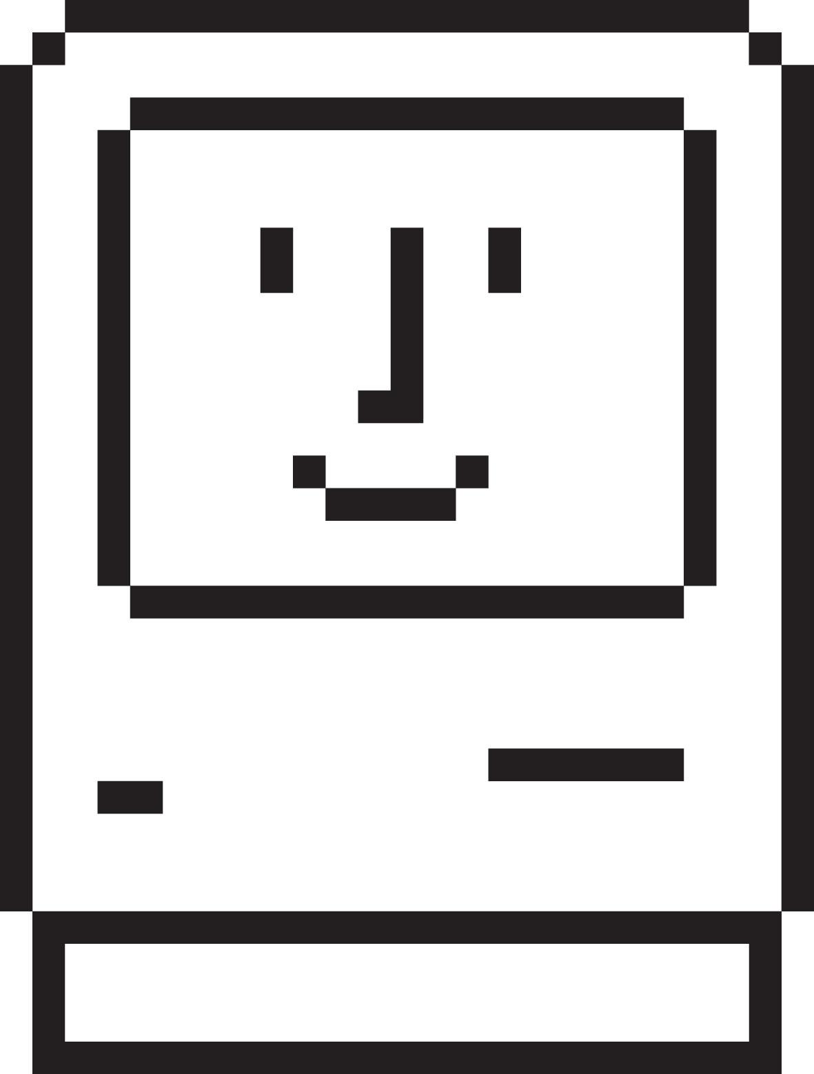 Happy MAC icon by Susan Kare