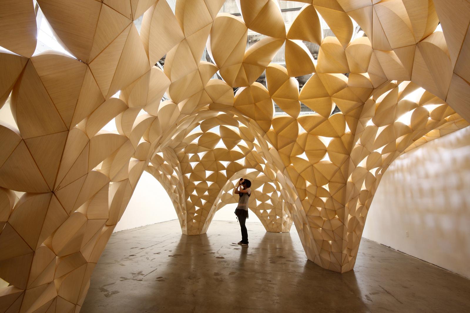 Voussoir Cloud installation by San Francisco firm IwamotoScott Architecture