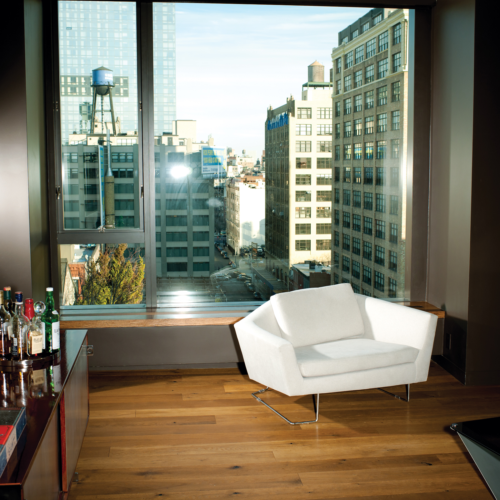 Modern seating area with David Weeks armchair