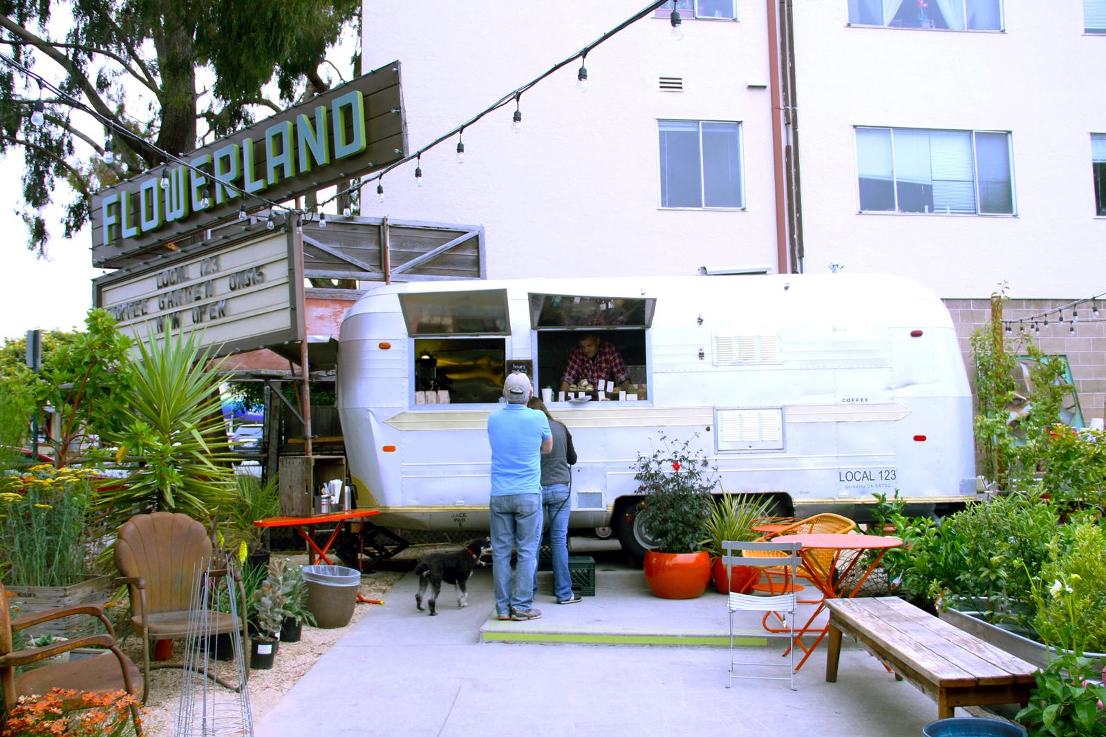 Local 123 and Flowerland in Berkeley, California