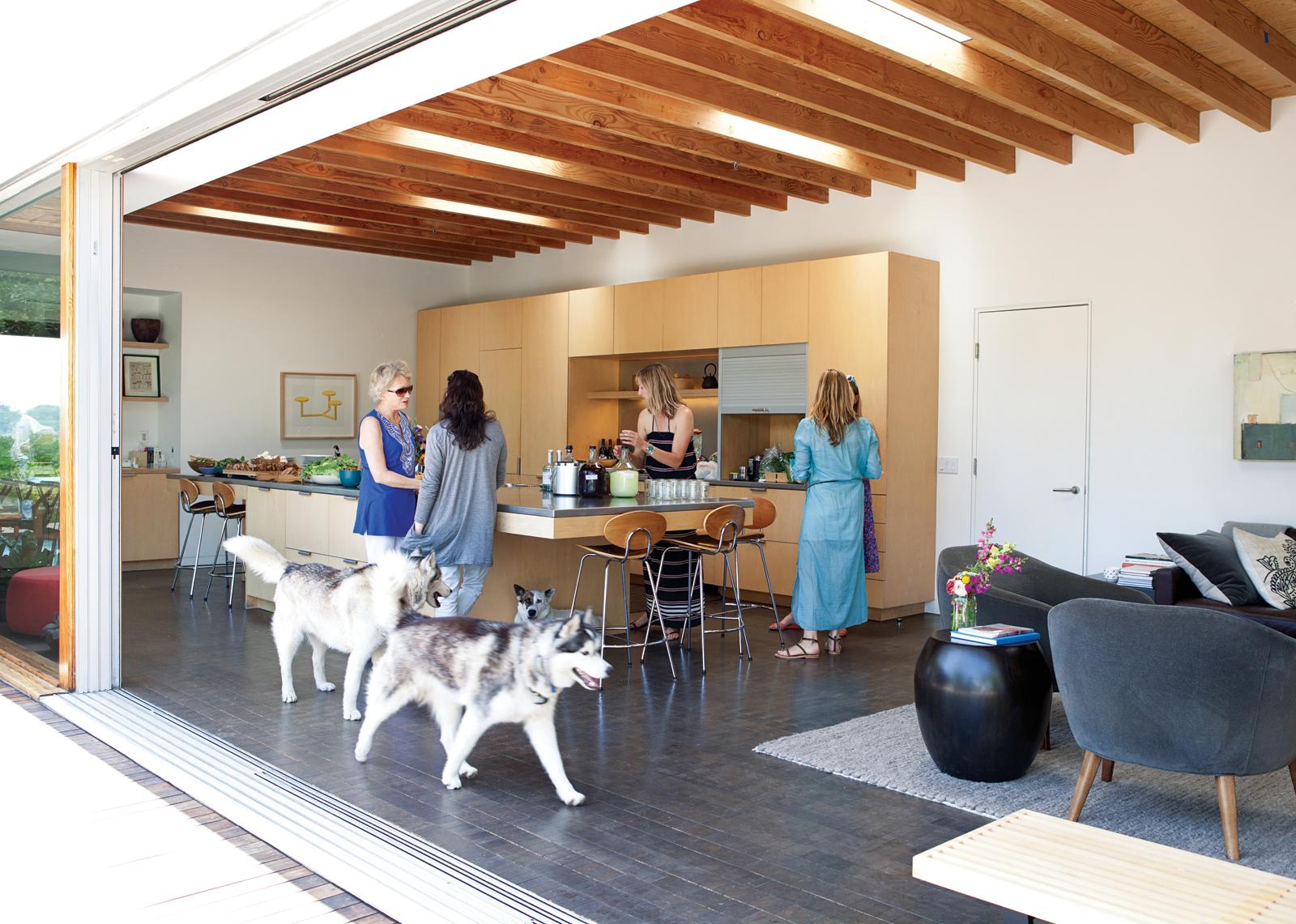 modernized open kitchen, Los Angeles