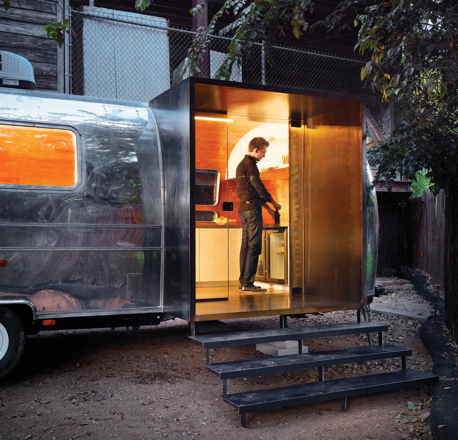 Revamped Airstream trailer by Burton Baldridge