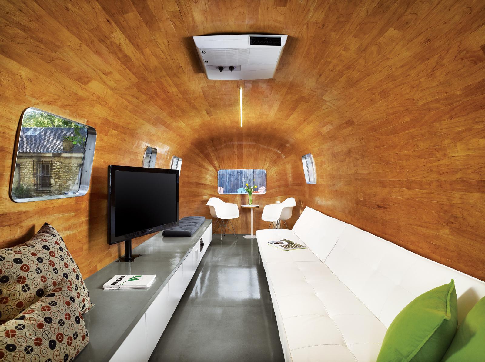 Revamped Airstream trailer by Burton Naldridge