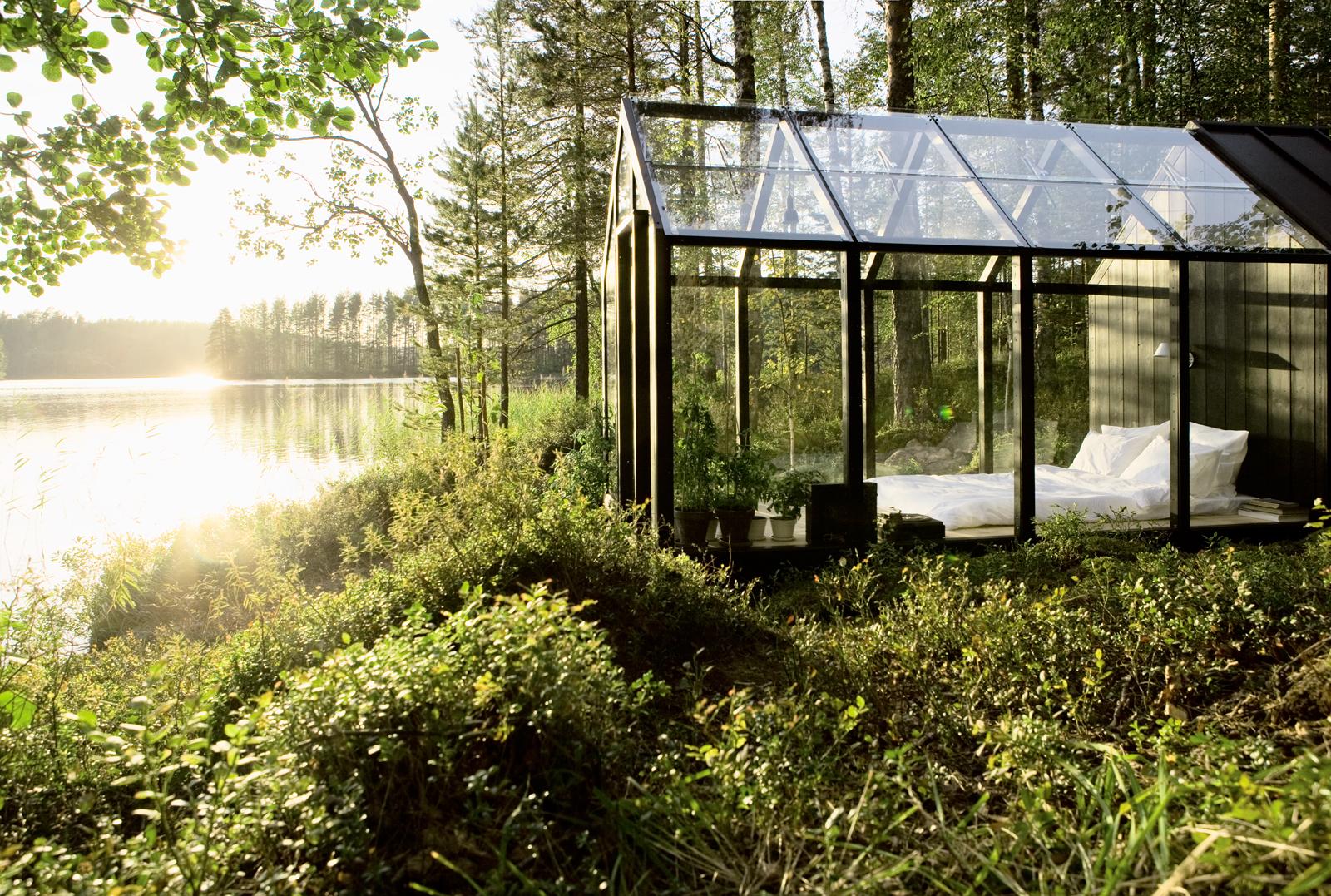 Modern prefab shed in Finland
