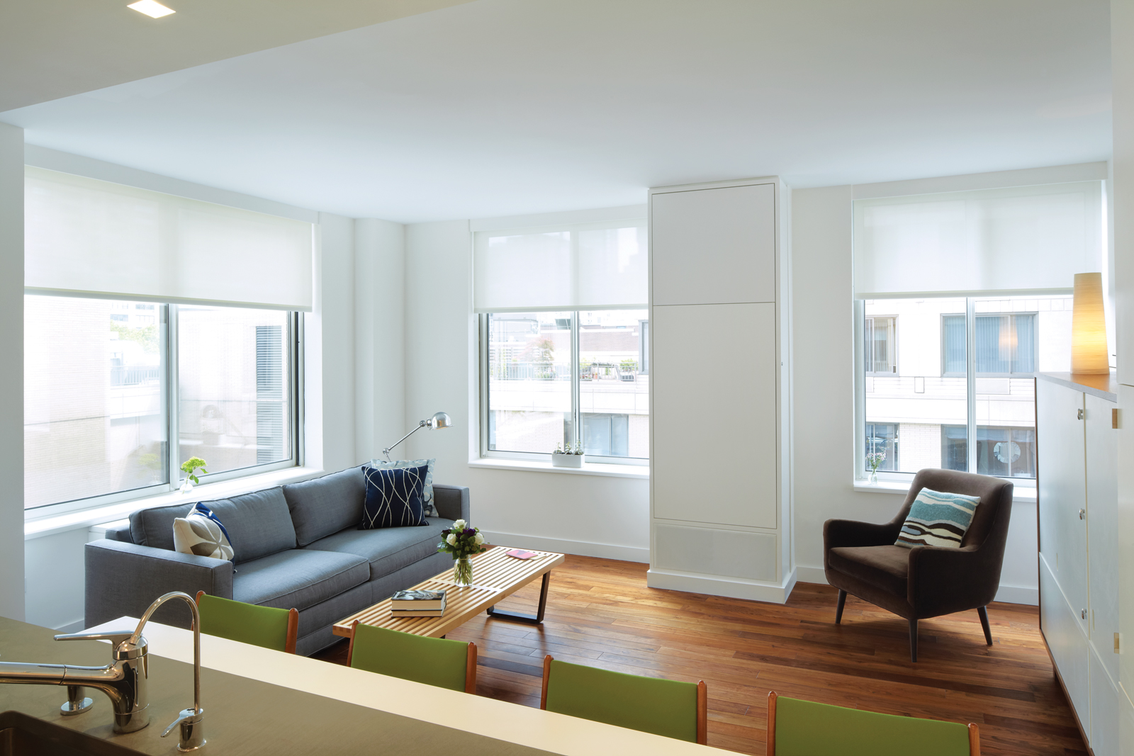 Small apartment space in Manhattan New York