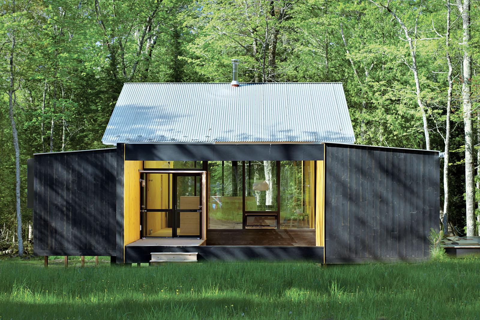 superior logic exterior open glass house