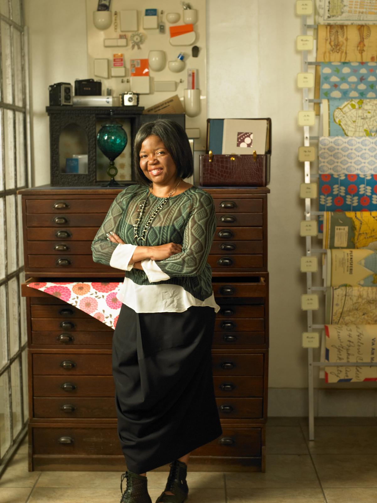 Chandra Greer inside her stationery store Greer
