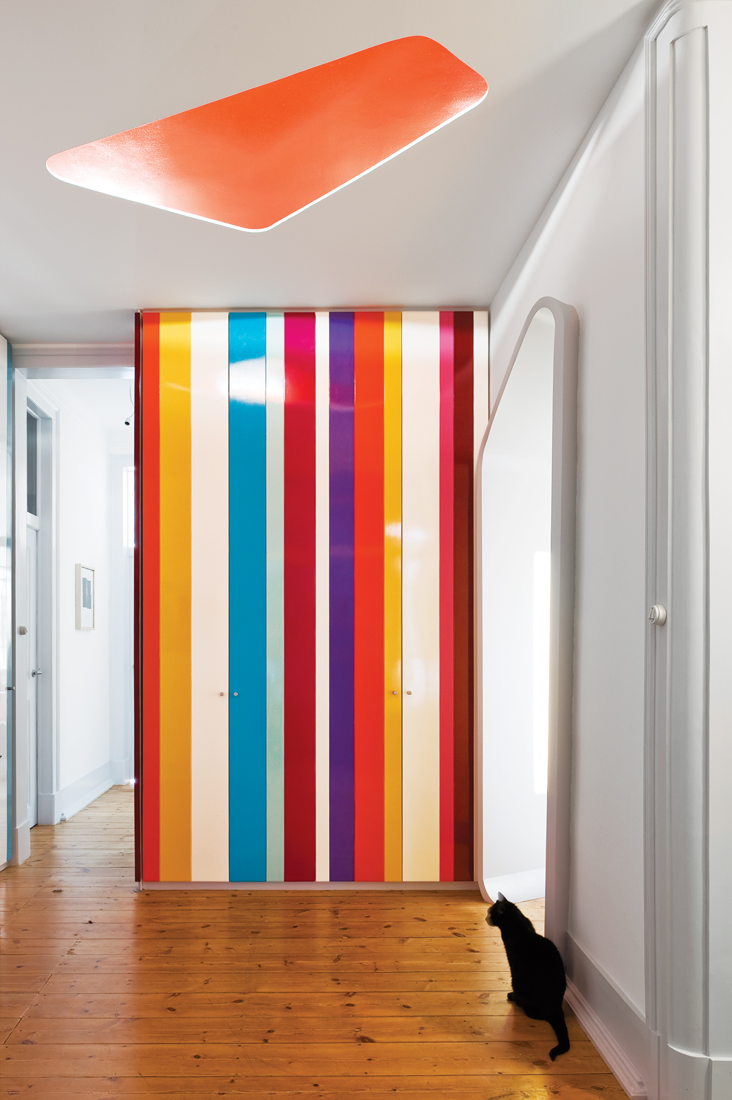 Pedro Gadanho laminated rainbow closet