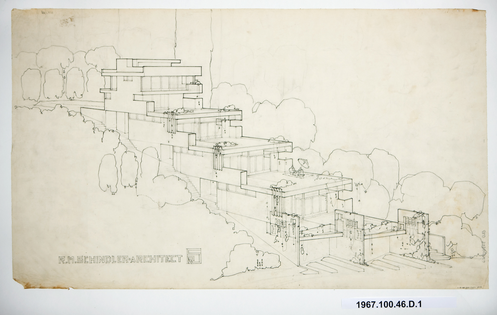 Bubeshko Apartments early blueprints archival document