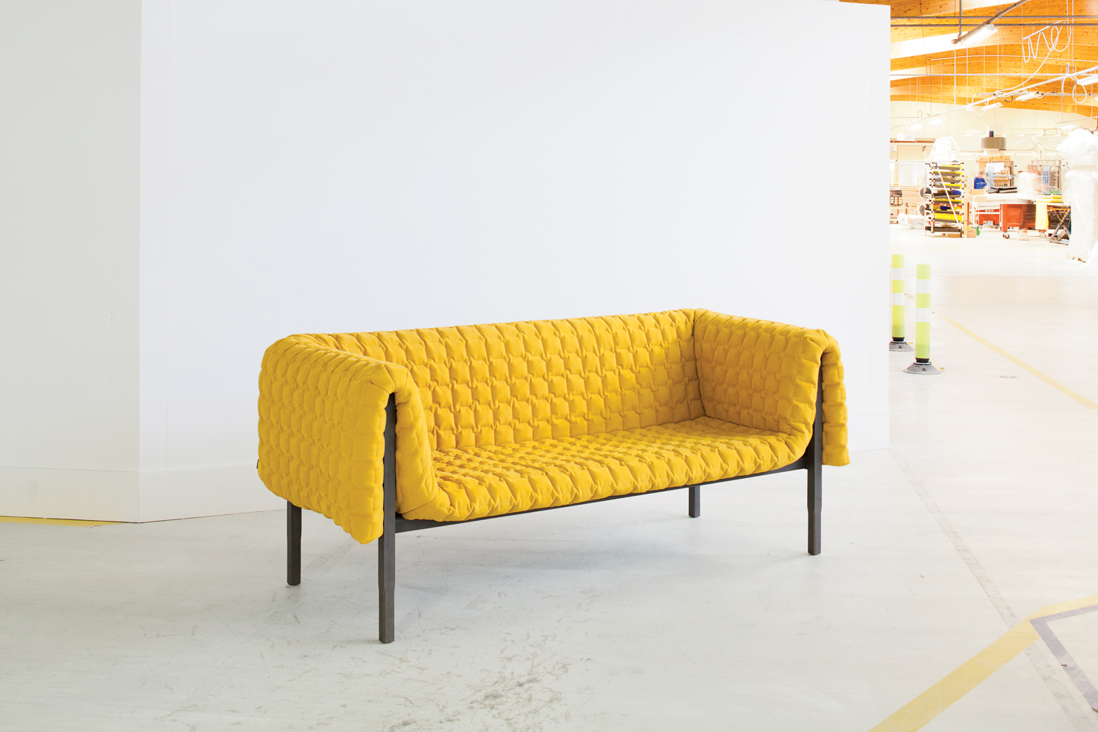 Modern Ruche sofa by Inga Sempe for Ligne Roset