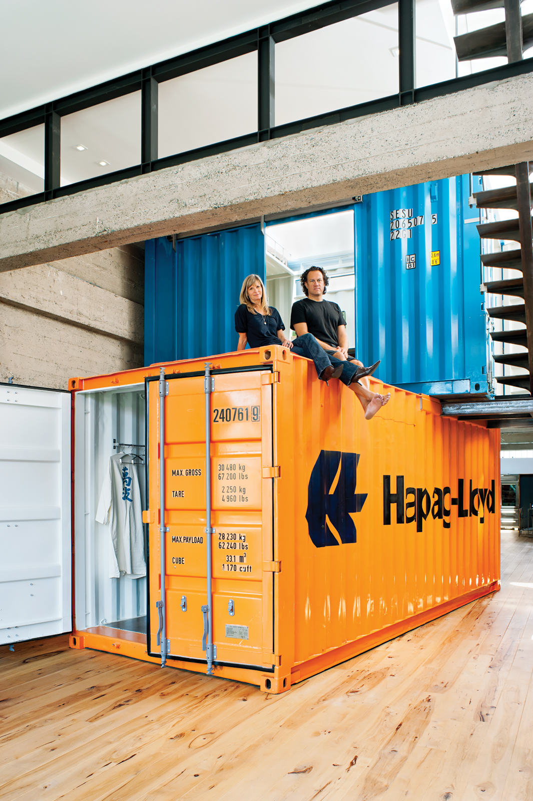 Orange shipping container Wardell Residence