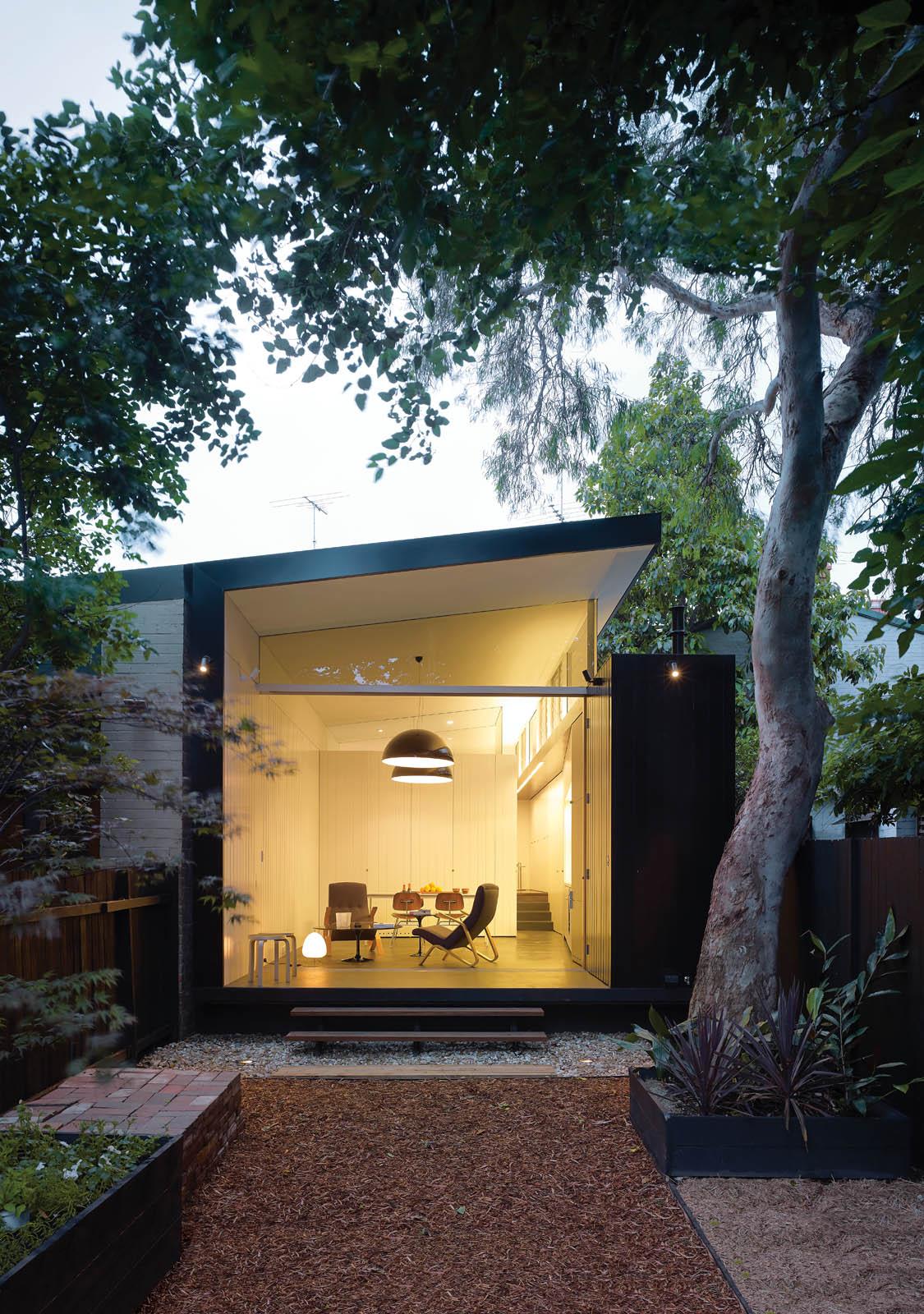 Modern home renovation 20th century facade