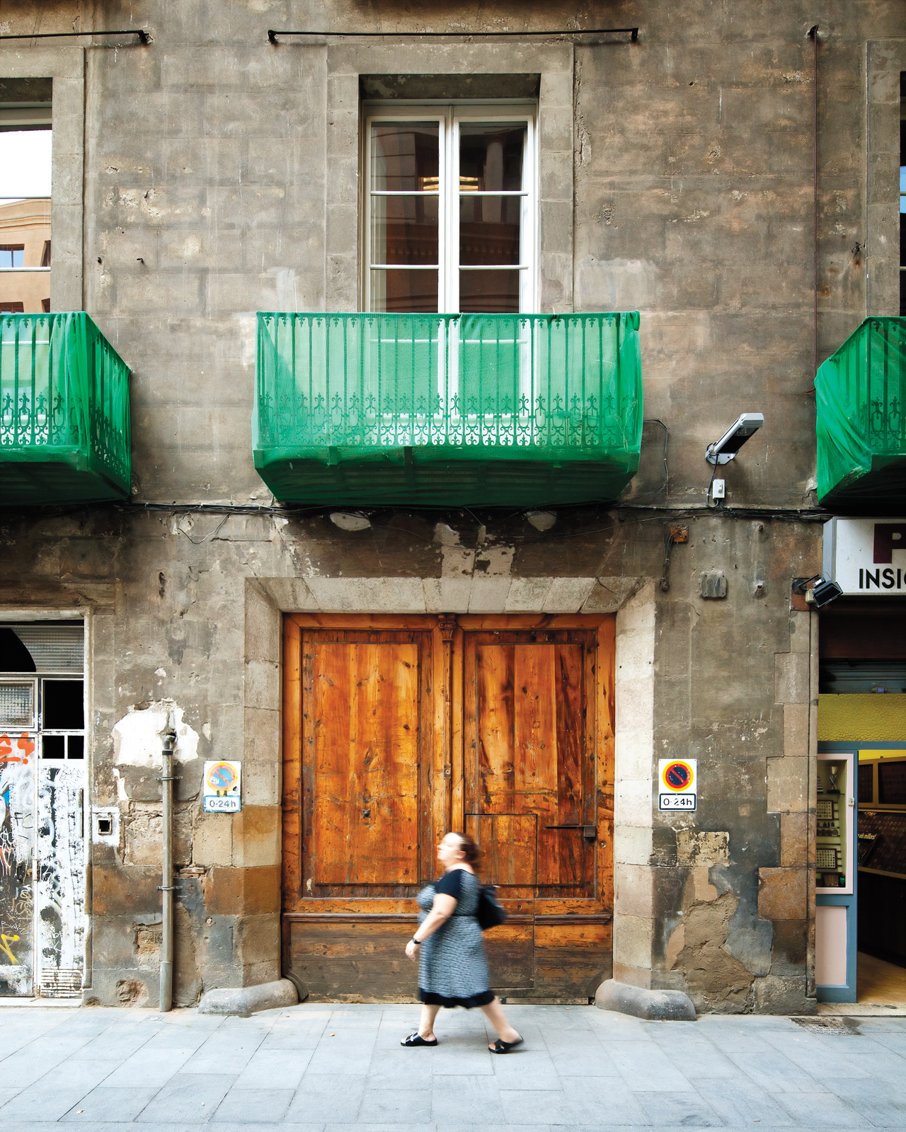 Balcany facade of Italian architect Benedetta Tagliabue's home