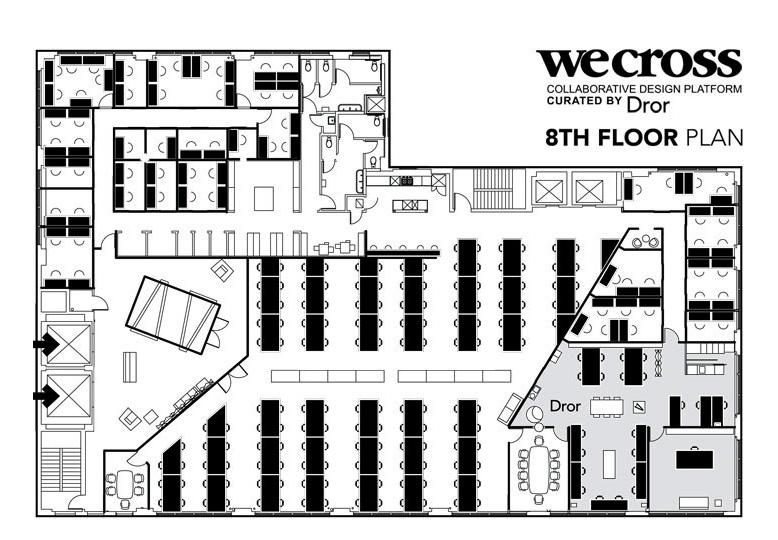 WeCross Office Space Floor Plan