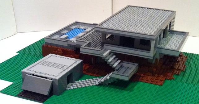 Hillside Escape Lego House by Chris Clark