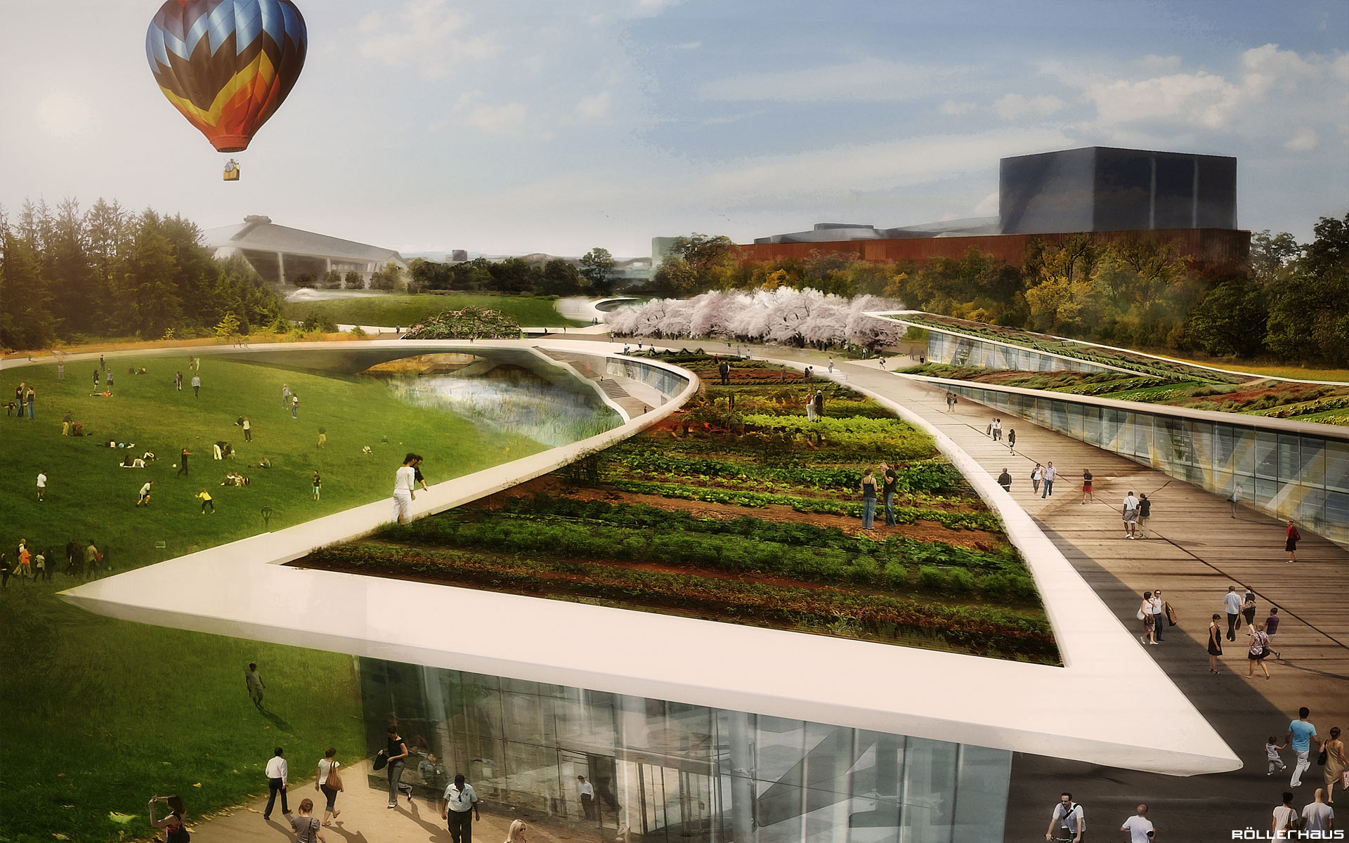 Seattle Center Memorial Pavilion & Gardens by Rollerhaüs