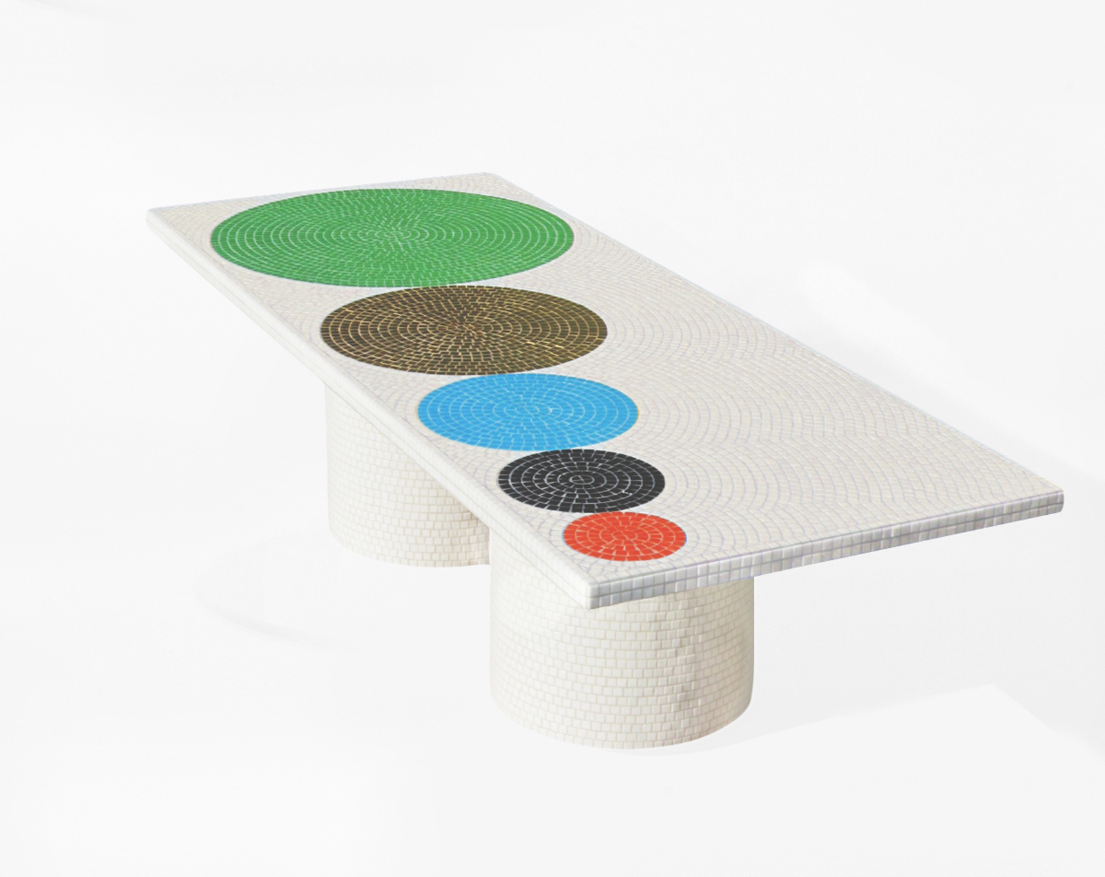 Tile table by Pierre Charpin