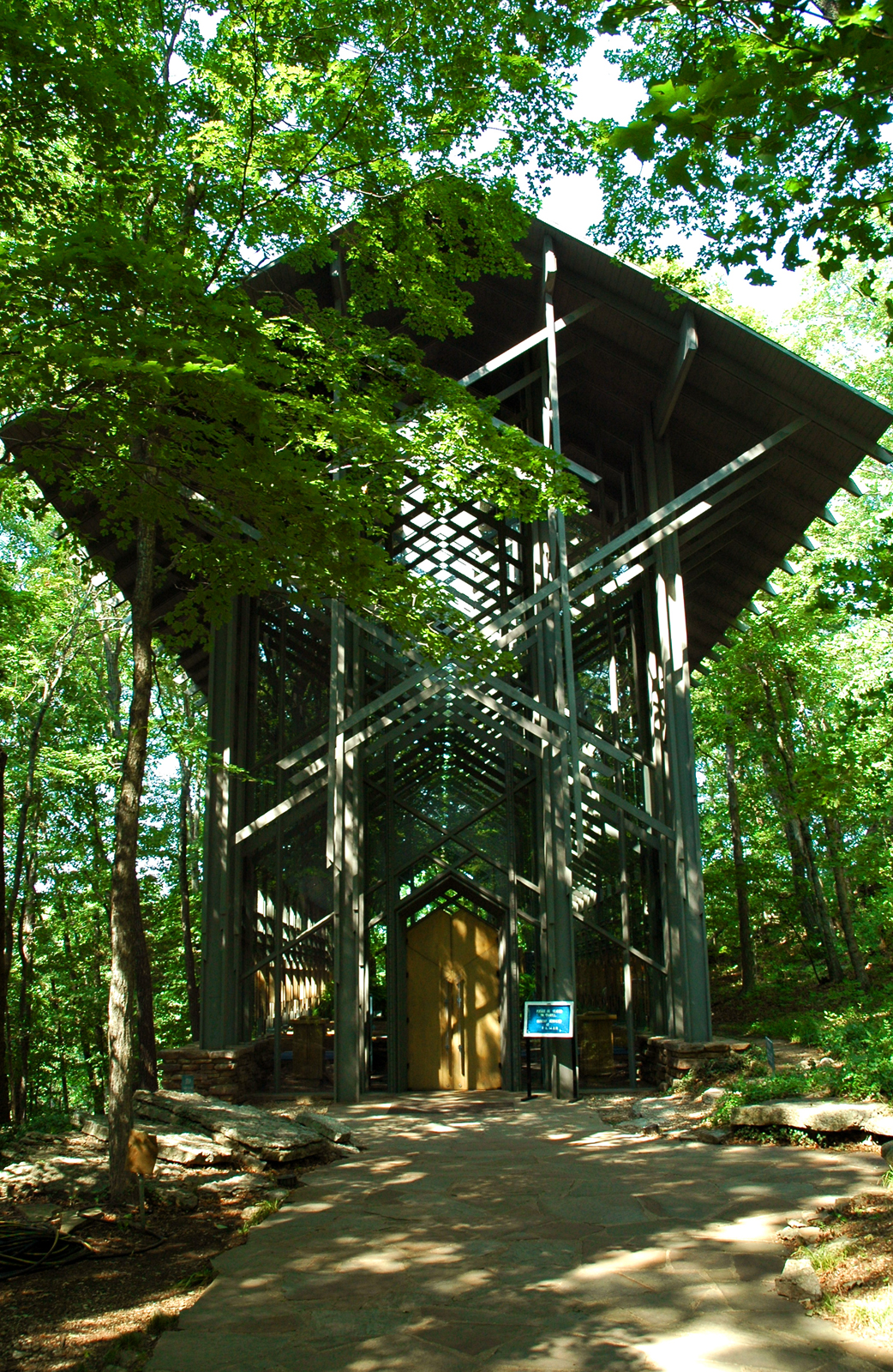 Thorncrown Chapel in Eureka Springs, Arkansas by E. Fay Jones.