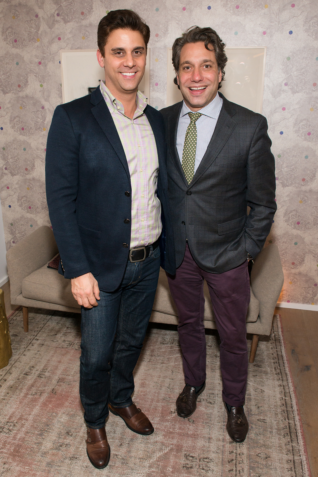 Aaron Schurgin and Thom Filicia at Dwell DDG Holiday Party