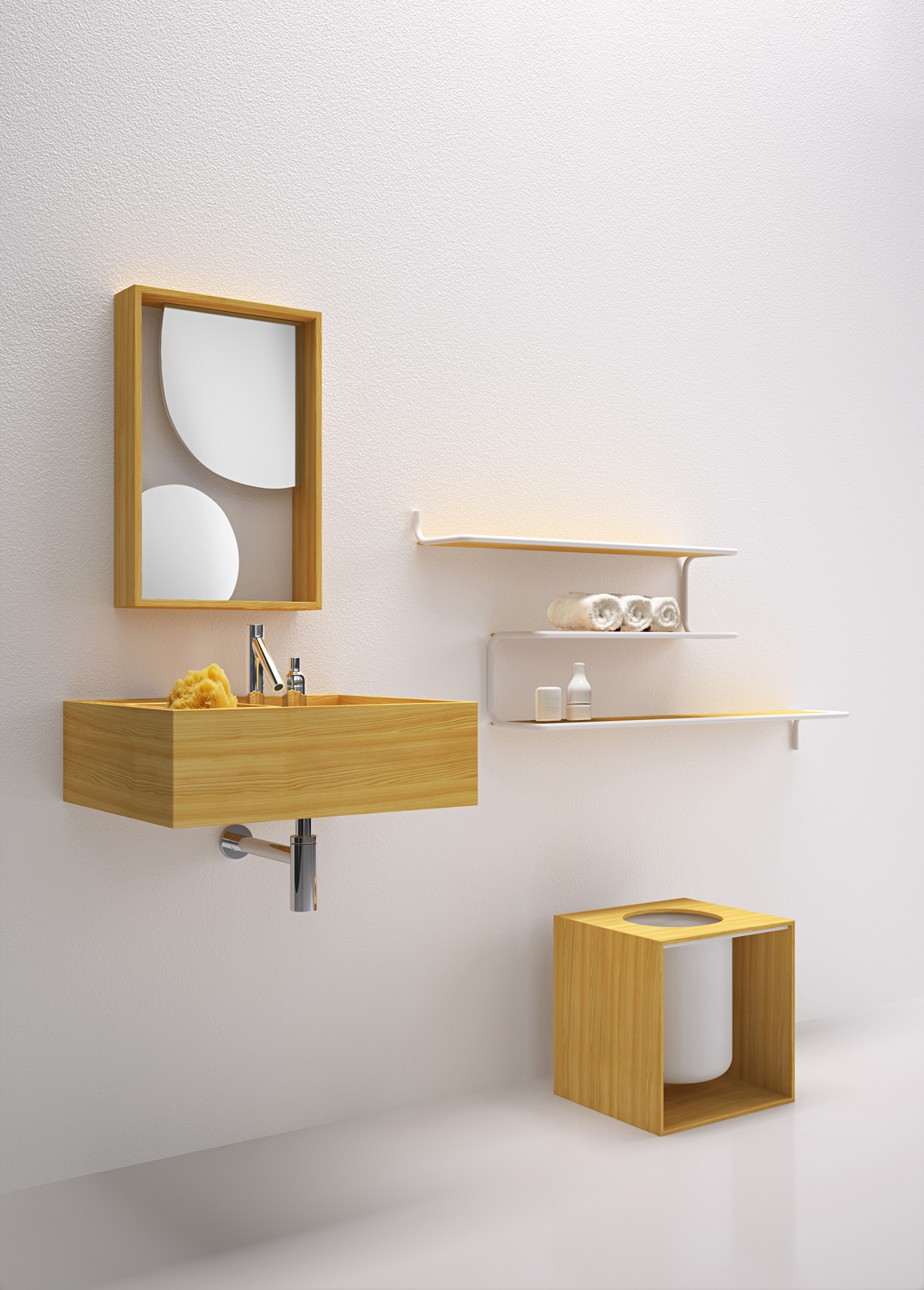 Bathroom fixtures by Nendo for Bisazza Bagno