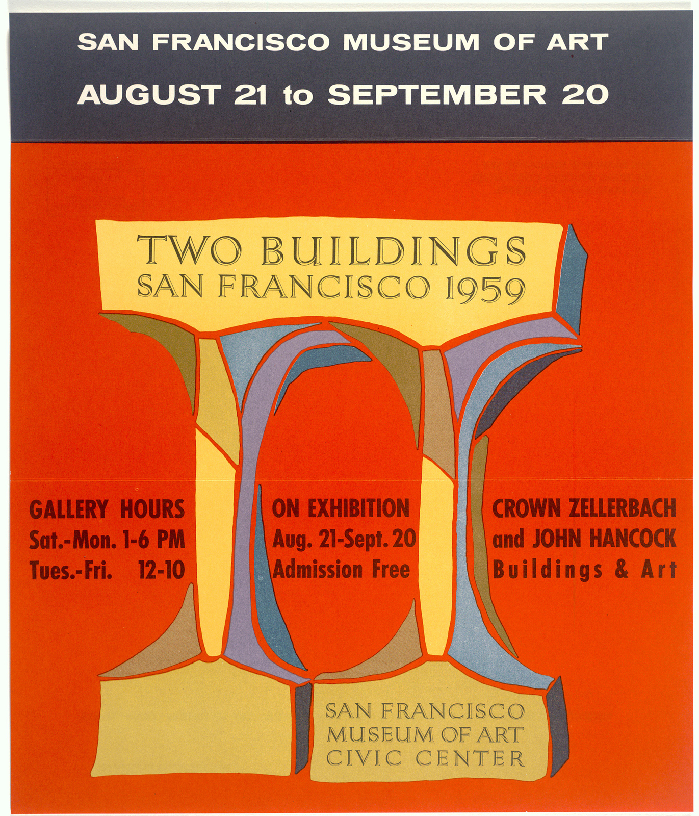Two Buildings: San Francisco 1959 exhibition mailer