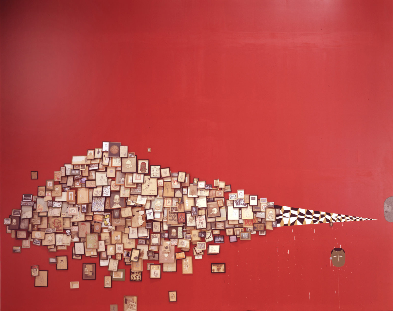 Mixed media installation by Barry McGee