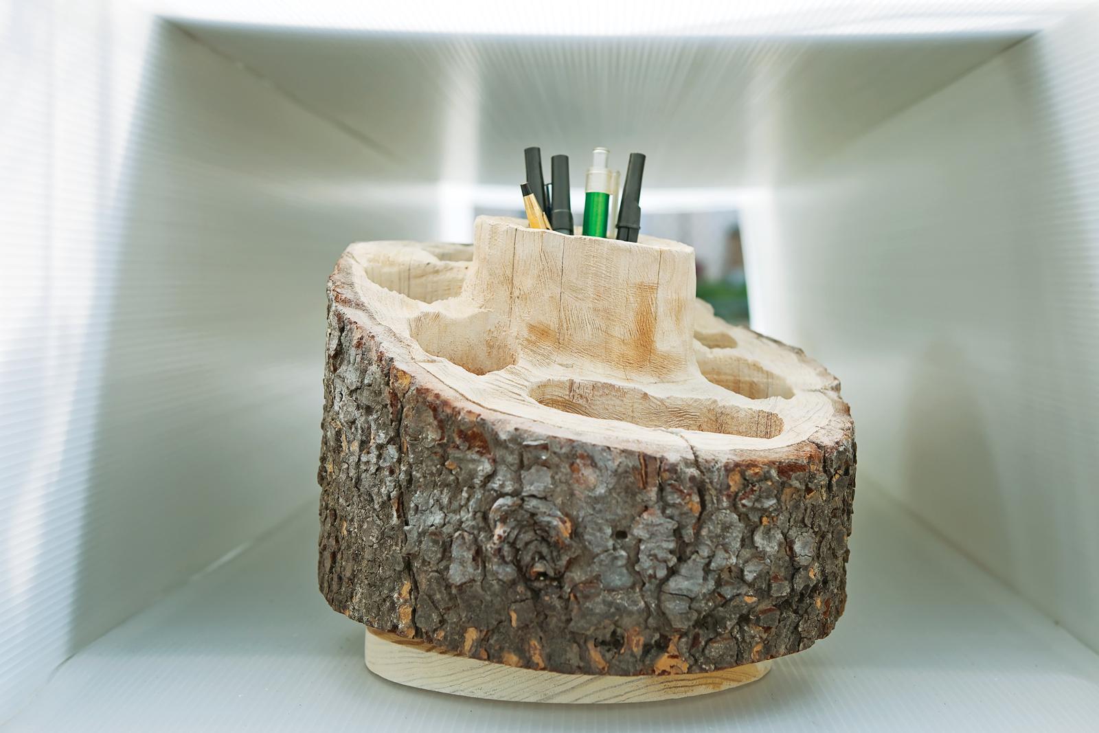 Log Desk Organizer by Aaron Linn