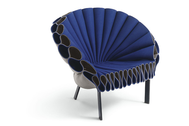 Layered blue chair by Dror for Target