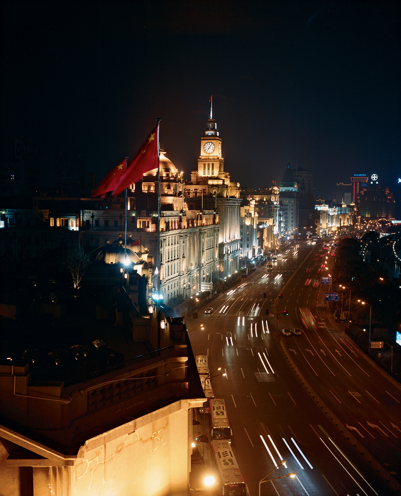 Night time view of Shanghai China