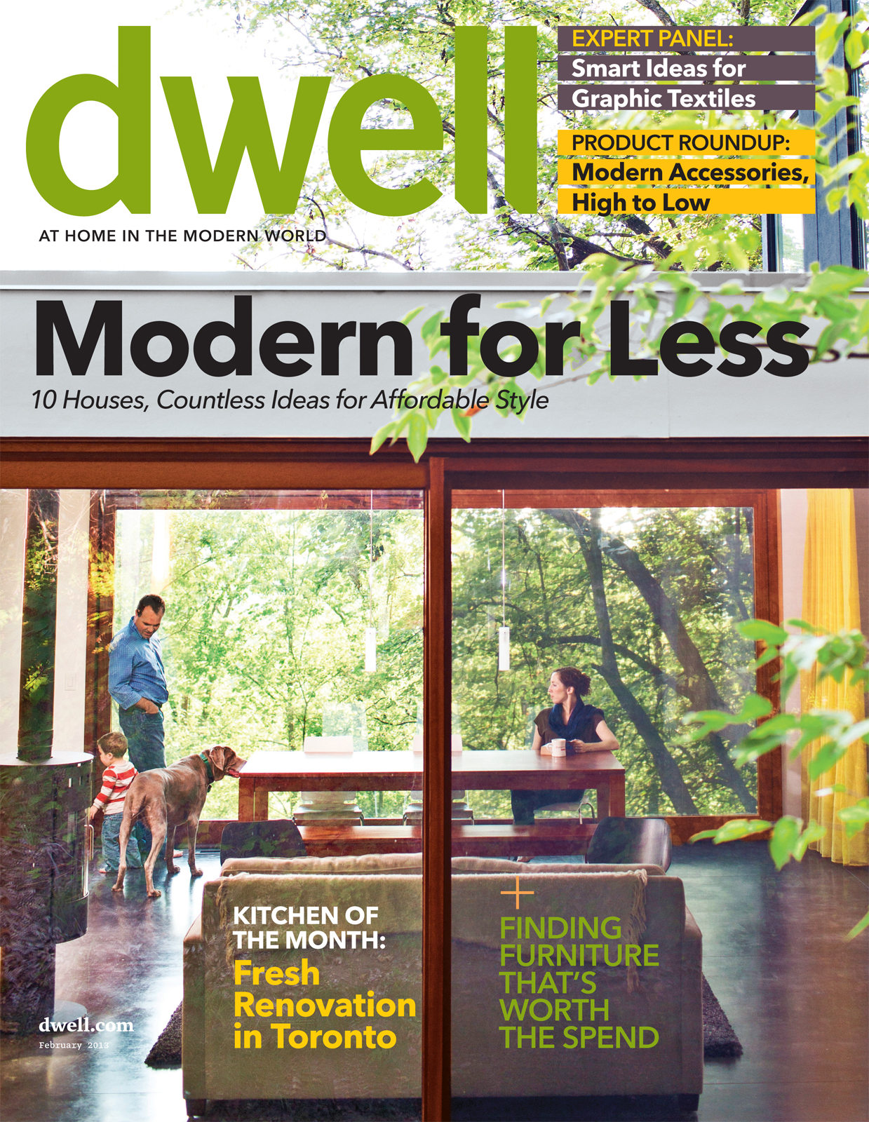 Dwell magazine February 2013 cover