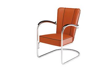 Steel tube chair by Willem Hendrik Gispen
