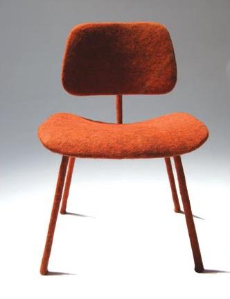 Eames Felt Chair by Tanya Aguiniga
