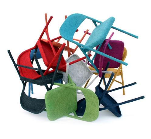 Felt chairs by Tanya Aguiniga
