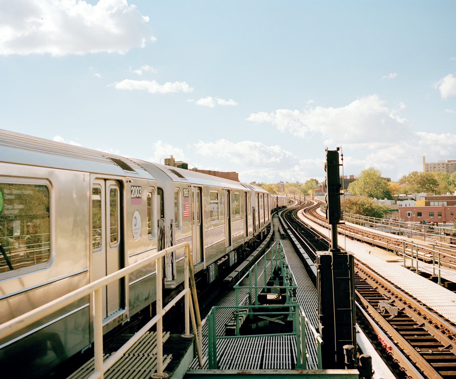 Exterior view of New York City subway
