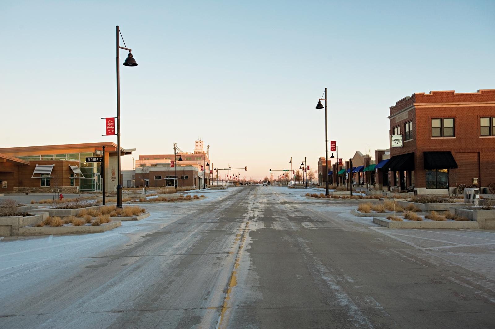 Main Street in Greensburg, Kansas