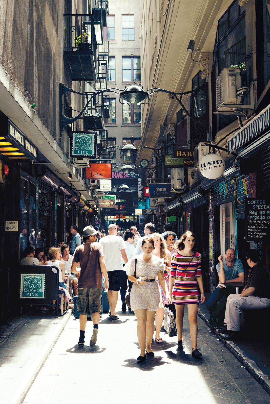 Central Business District in Melbourne, Australia
