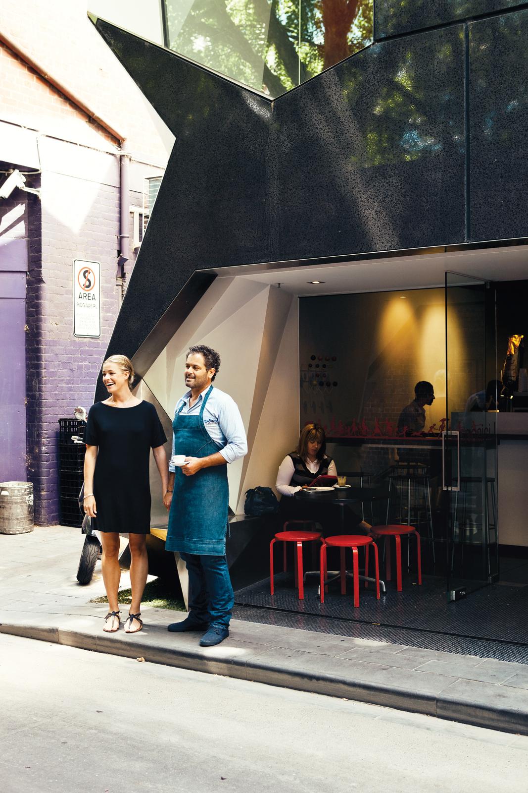 Liaison Café at tiny Ridgeway Place in Melbourne, Australia