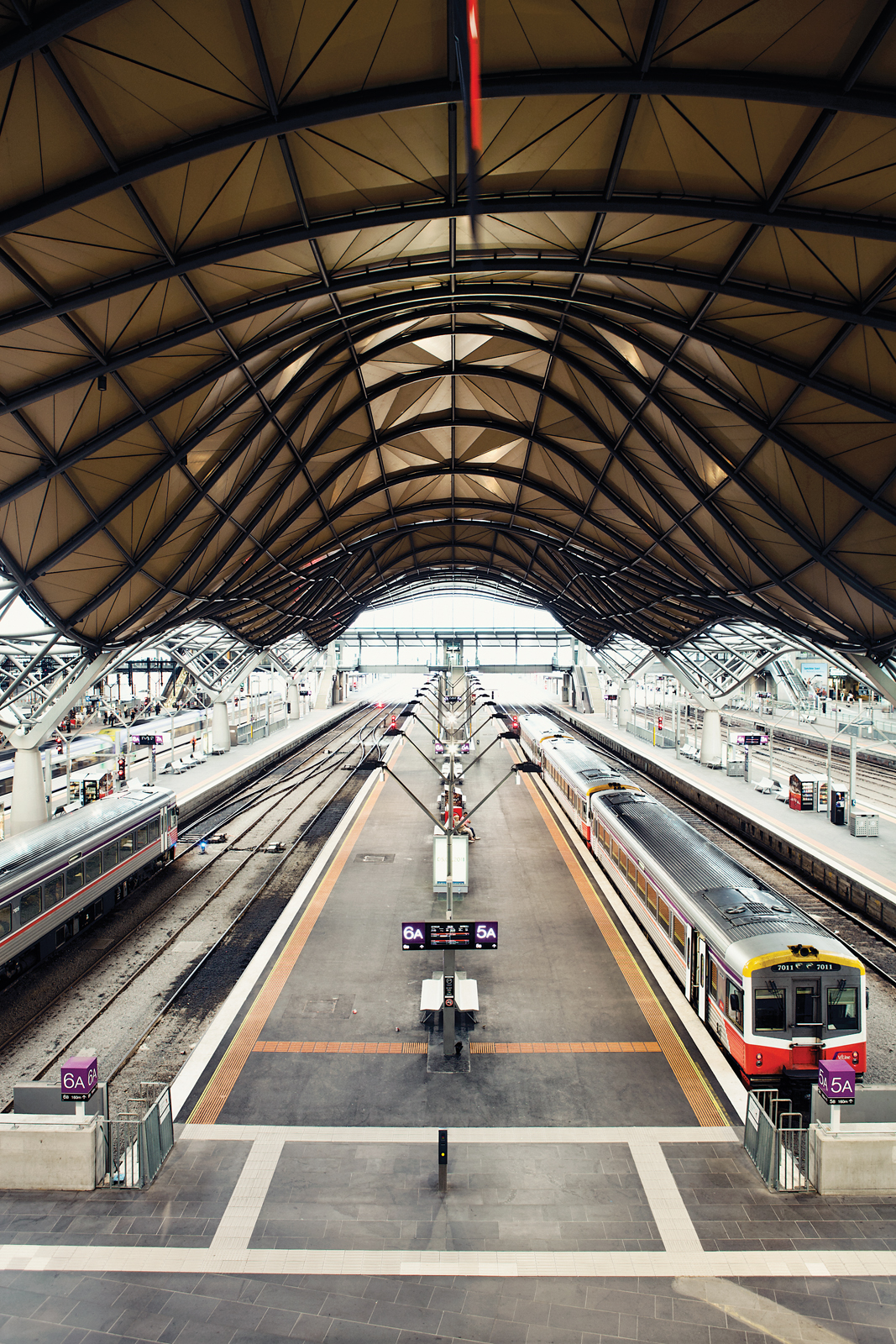 Southern Cross Station designed by Grimshaw Architects in Melbourne, Australia