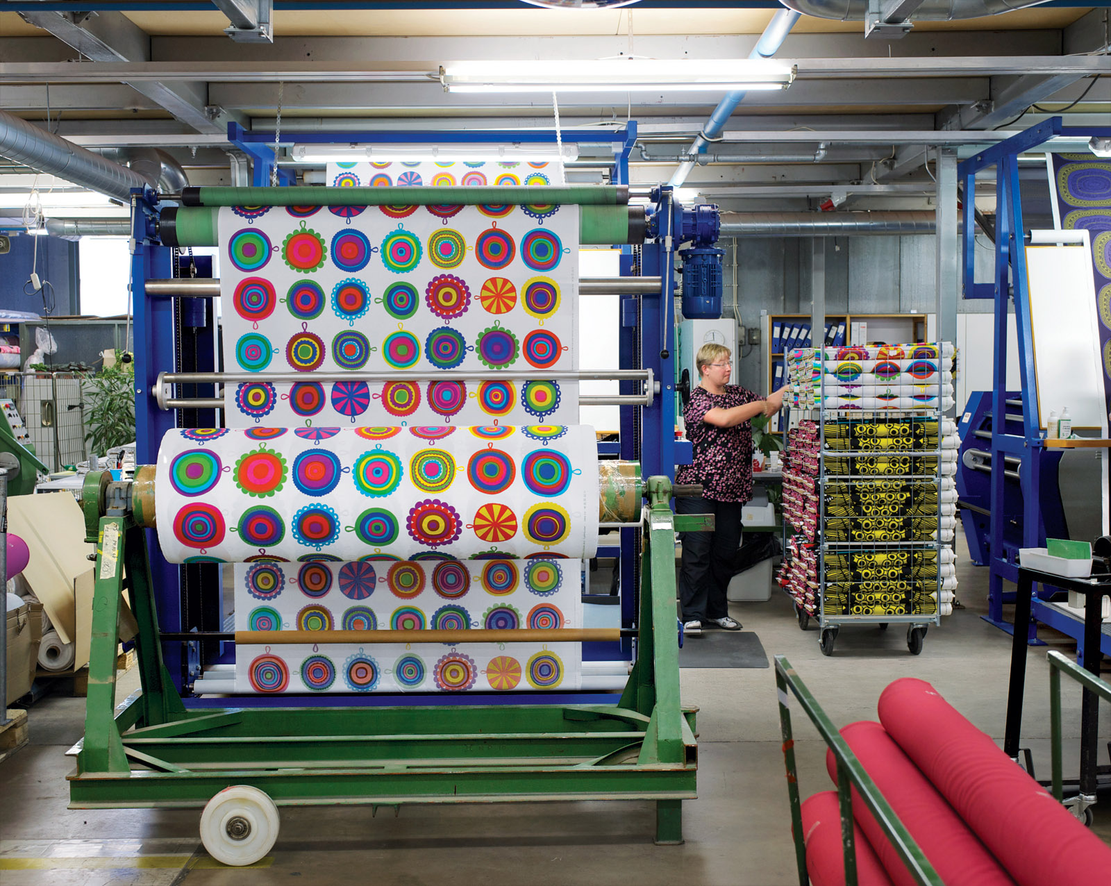 Marimekko factory interior in Helsinki, Finland