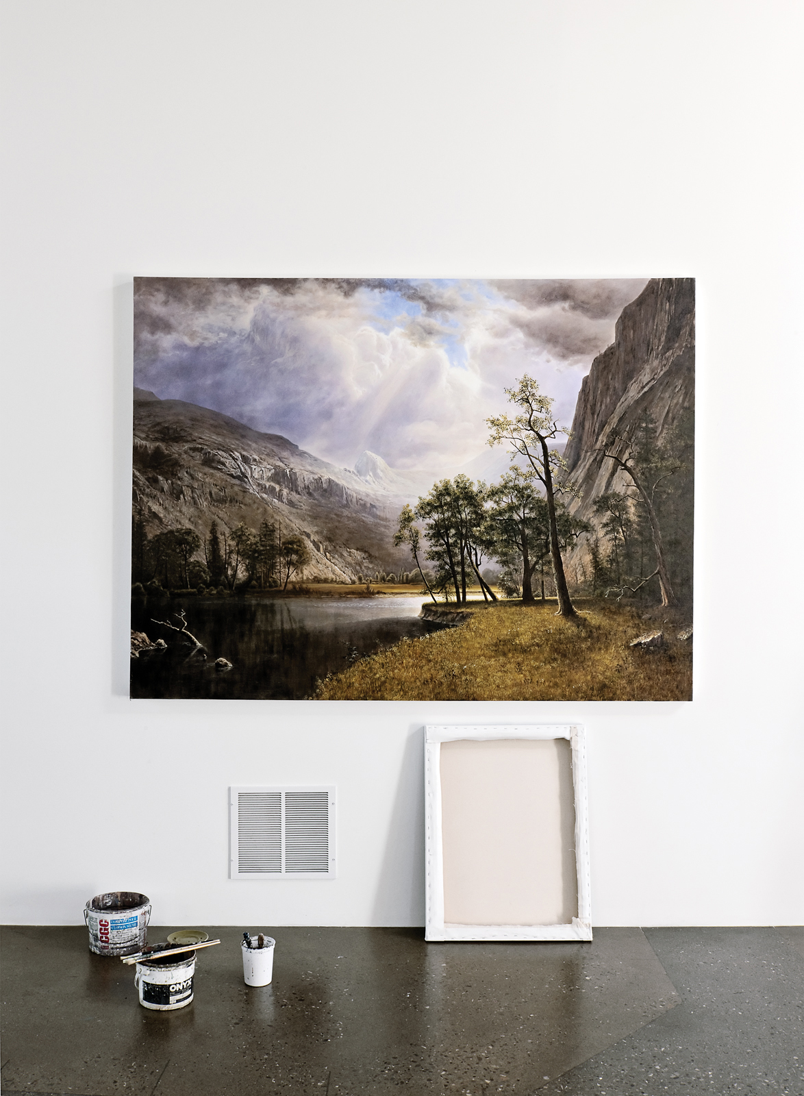 Andrew Monkman painting on wall