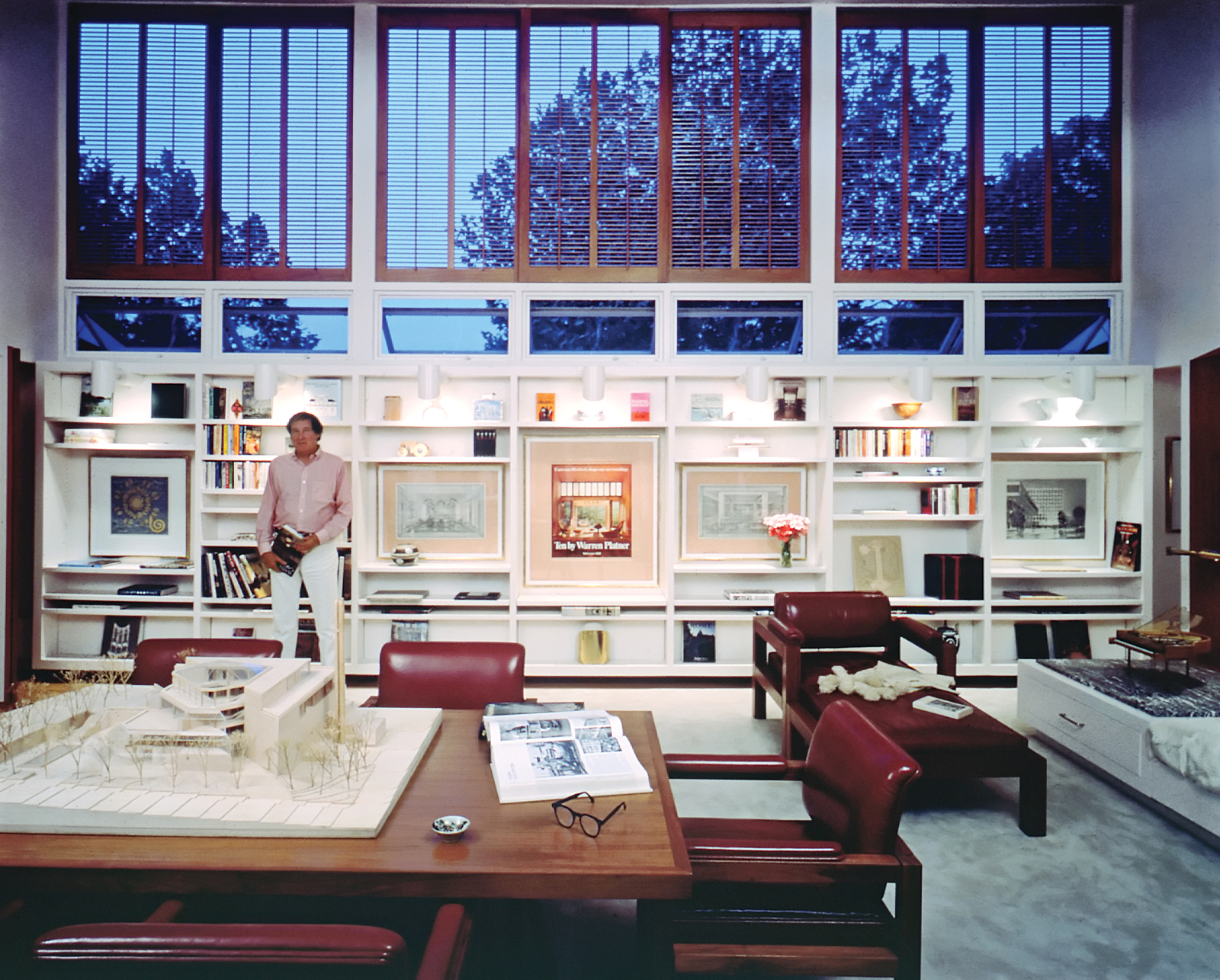 Warren Platner's home office