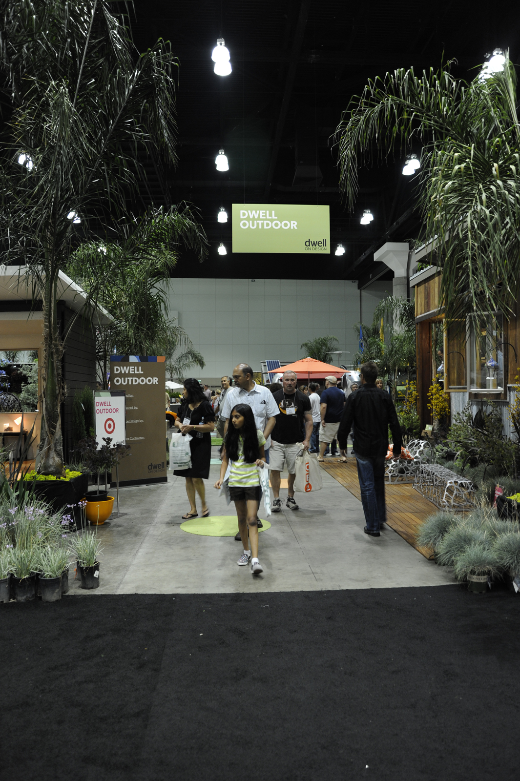 """The entrance to Dwell Outdoor, located in the back left hand side of <a href=""""http://dwellondesign.com/"""">DwellonDesign</a> at the LA Convention Center."""