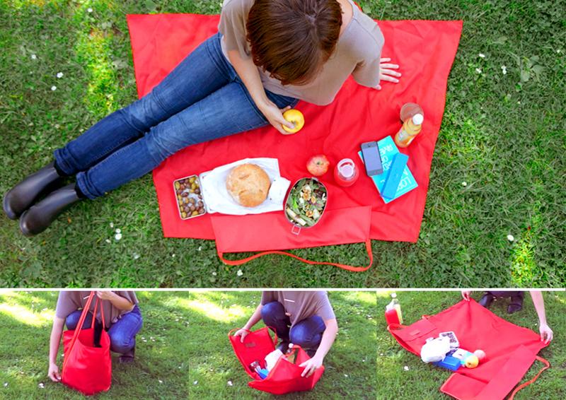Picnic Bag Blanket by Yield