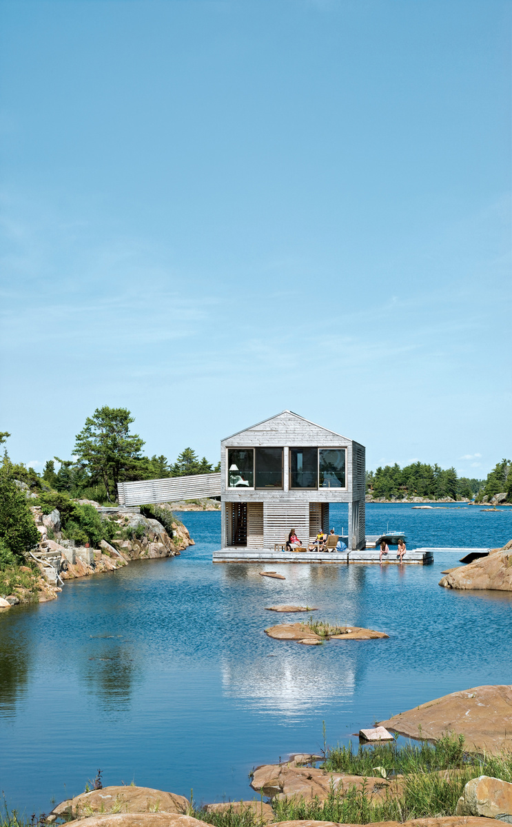 worple house exterior floating house side view 0
