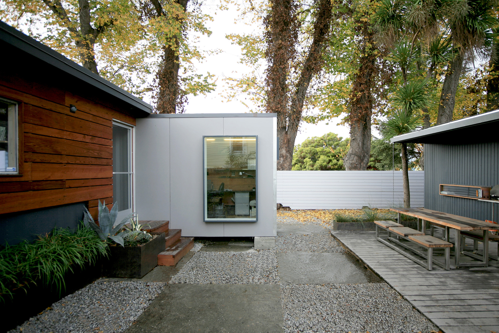 Modern shipping container home office