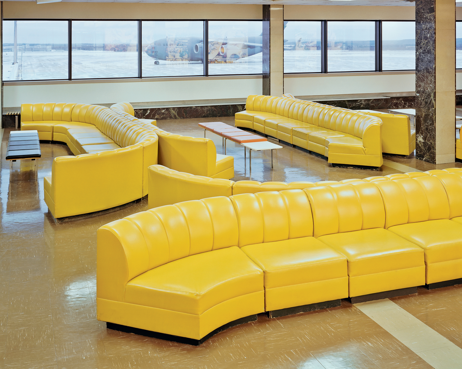 Canada Department of Transport Yellow Sofas