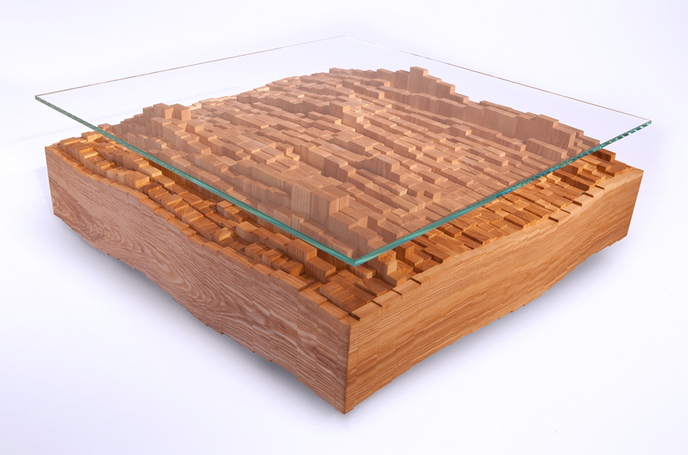Scattered Pixel Coffee Table by EndGrain