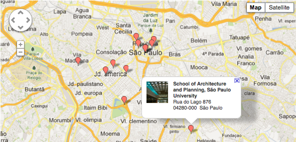 destination sao paolo map